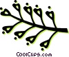 Vector Clipart graphic  of a leaves