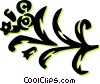 Vector Clipart image  of a floral design