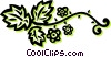 Vector Clipart graphic  of a floral designs