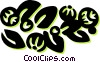 Vector Clip Art image  of a floral designs