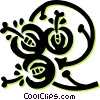floral design Vector Clipart graphic