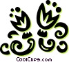 floral design Vector Clip Art graphic