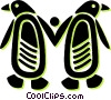 Vector Clip Art graphic  of a penguins