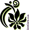 Vector Clipart image  of a decorative floral design