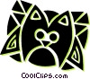 Vector Clipart graphic  of a house cat
