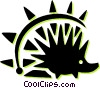 Vector Clip Art picture  of a porcupine