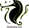 Vector Clipart graphic  of a sea horses