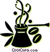 coffee cup and beans Vector Clipart image