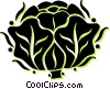 Vector Clip Art image  of a cabbage