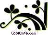 Vector Clipart image  of a decorative floral elements