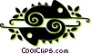 chameleons Vector Clipart illustration