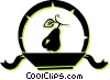 Vector Clip Art image  of a pear