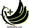 Vector Clipart graphic  of a Bananas