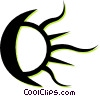 moon and sun Vector Clipart image
