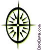 Vector Clip Art image  of a compass