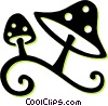 Vector Clipart illustration  of a wild mushrooms