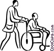 Vector Clipart picture  of a people with disabilities