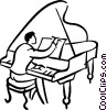 pianist Vector Clipart illustration