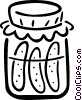 Vector Clipart graphic  of a pickles