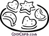 Vector Clipart graphic  of a cookies