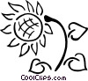 Vector Clip Art image  of a sunflower