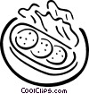Vector Clipart image  of a Sandwiches