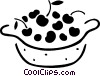 Fruit Bowls Vector Clipart graphic