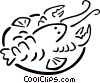 Vector Clip Art graphic  of a lobster