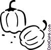 Vector Clip Art image  of a pumpkin