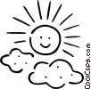 Vector Clipart graphic  of a the sun