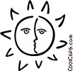Vector Clip Art graphic  of a the sun