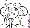 Vector Clipart graphic  of a trees