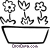 potted flowers Vector Clip Art picture