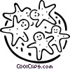 Vector Clip Art image  of a gingerbread cookies