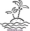 Vector Clip Art image  of a palm trees