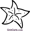 Vector Clipart picture  of a starfish
