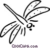 Vector Clip Art graphic  of a dragonfly