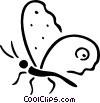 Vector Clip Art graphic  of a butterfly