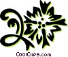 floral design Vector Clip Art picture