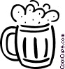 Vector Clipart image  of a beer