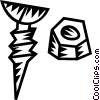 Vector Clip Art graphic  of a nuts and bolts