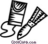 Vector Clip Art image  of a Scrapers