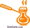 Vector Clip Art image  of a coffee pot/maker