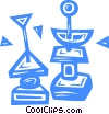Vector Clip Art graphic  of a hors d'oeuvres