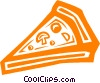 Vector Clip Art graphic  of a pizza