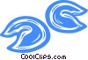Vector Clipart illustration  of a fortune cookies