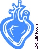 Vector Clip Art graphic  of a human heart