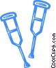 crutches Vector Clipart image