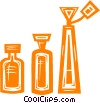 perfume bottles Vector Clipart illustration