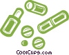 Vector Clipart illustration  of a medicine